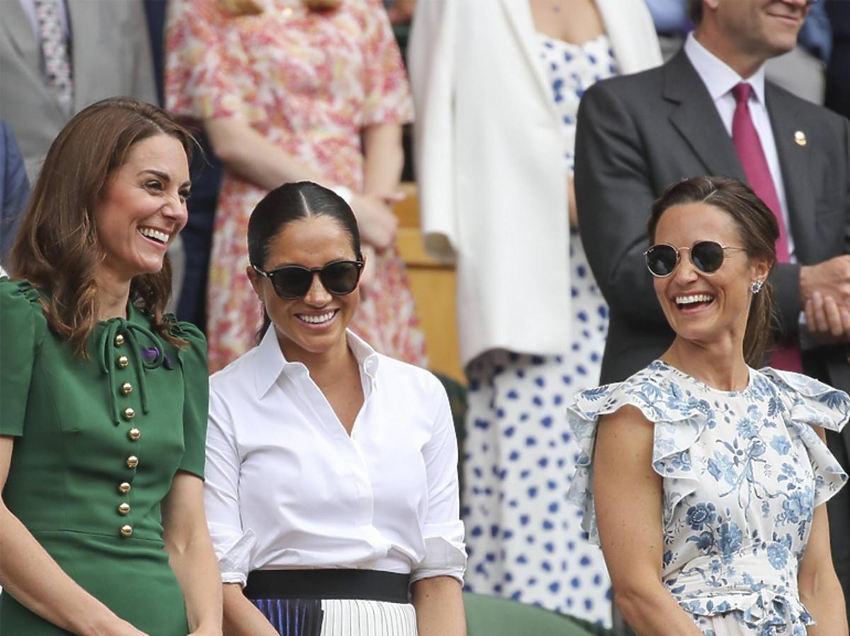 Pippa Middleton z Meghan Markle i księżną Kate na Wimbledonie