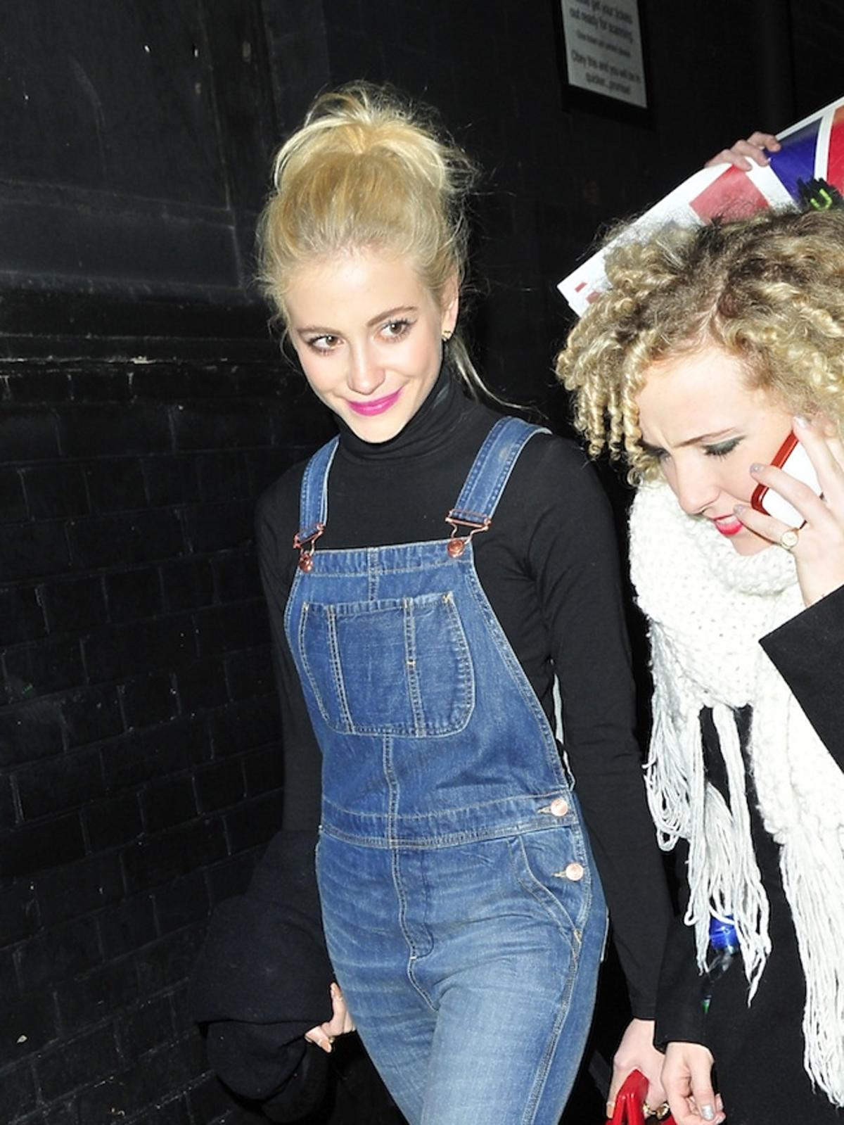 Pixie Lott na koncercie Rihanny w Londynie