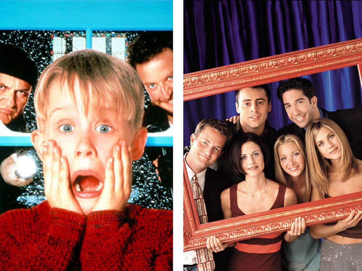 """Plakat filmu """"Kevin sam w domu"""" i kadr z serialu """"przyjaciele"""""""