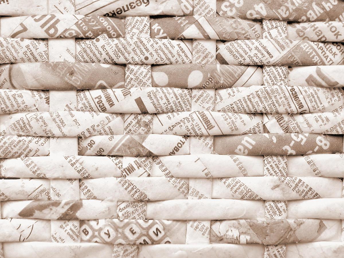 Płąski arkusz papierowej wikliny