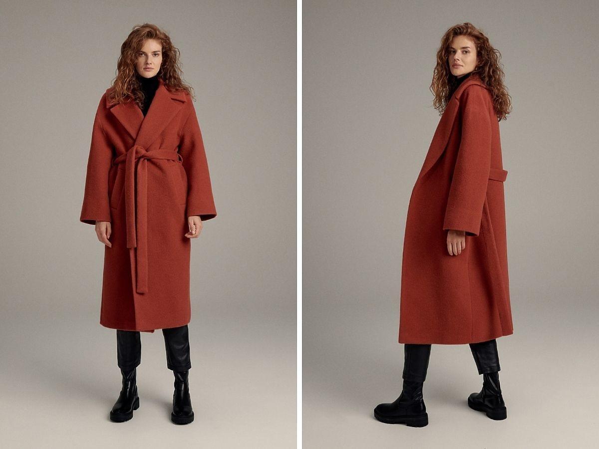 Płaszcz Reserved w jesiennym kolorze