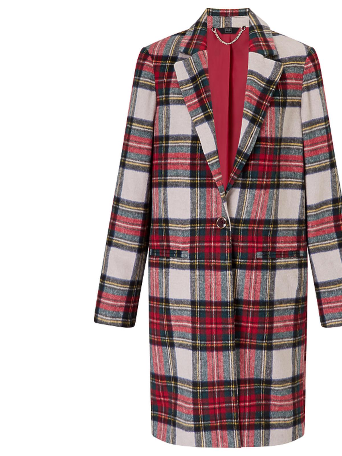 Płaszcz w kolorowa kratę F&F