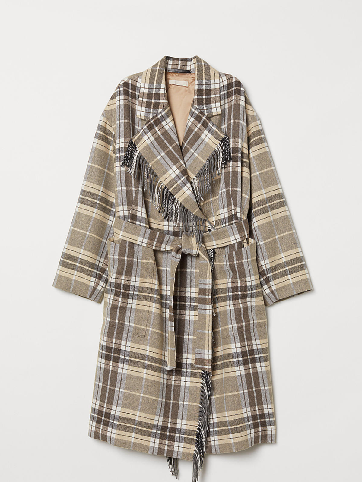 Płaszcz w kolorowa kratę H&M
