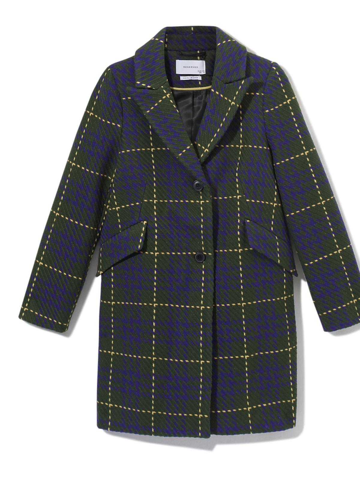 Płaszcz w kolorowa kratę Reserved