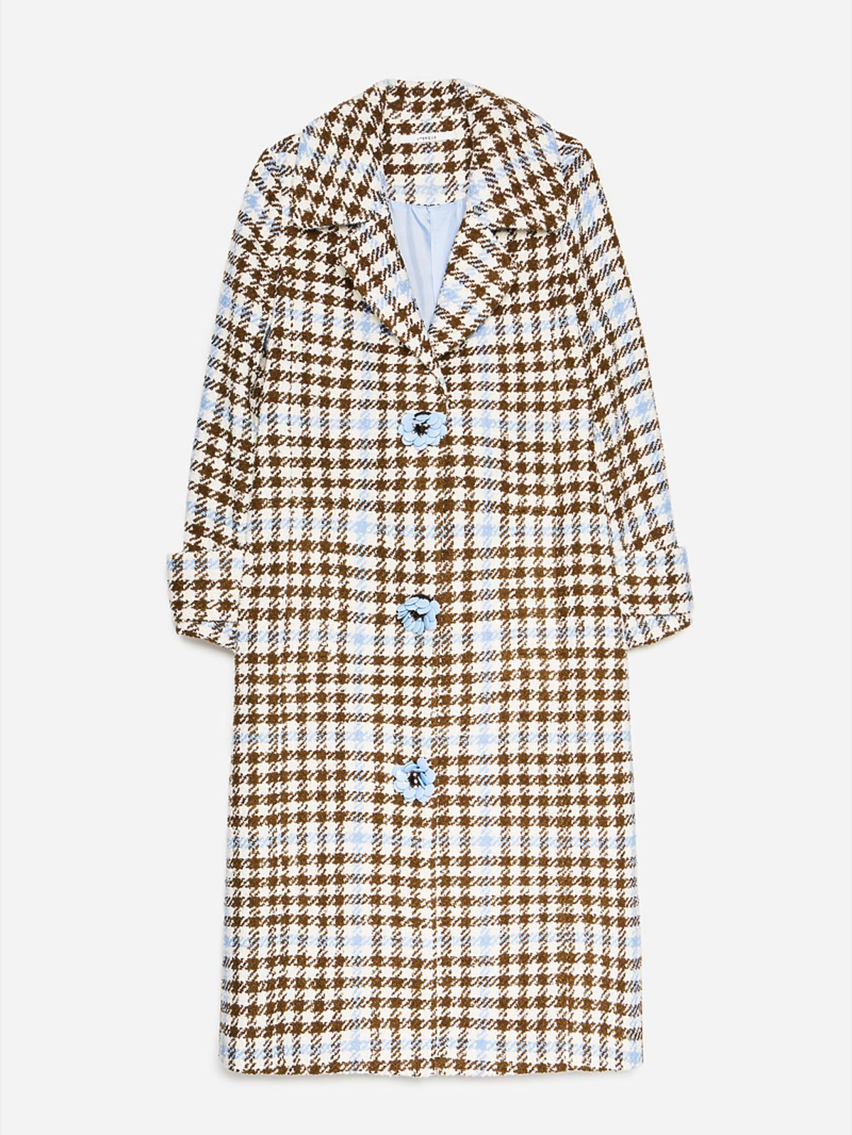 Płaszcz w kolorowa kratę Uterque