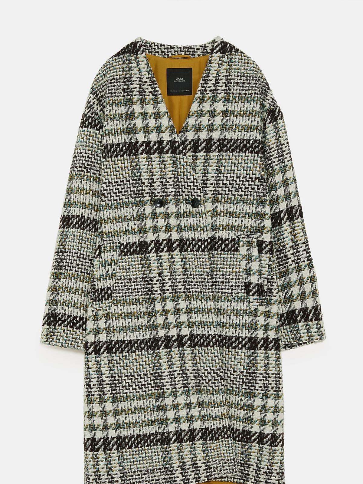 Płaszcz w kolorowa kratę Zara