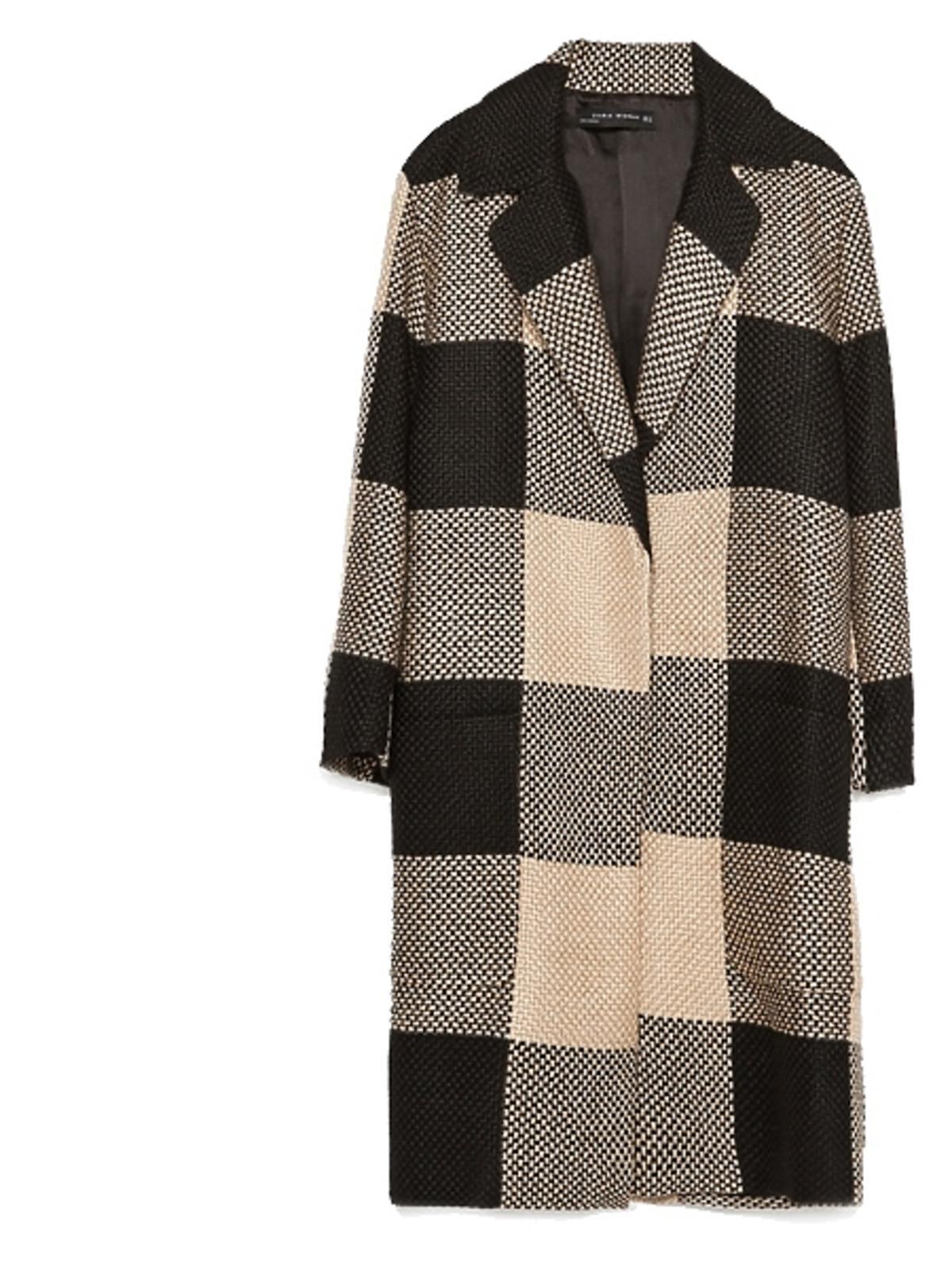 Płaszcz w kratę Zara, cena
