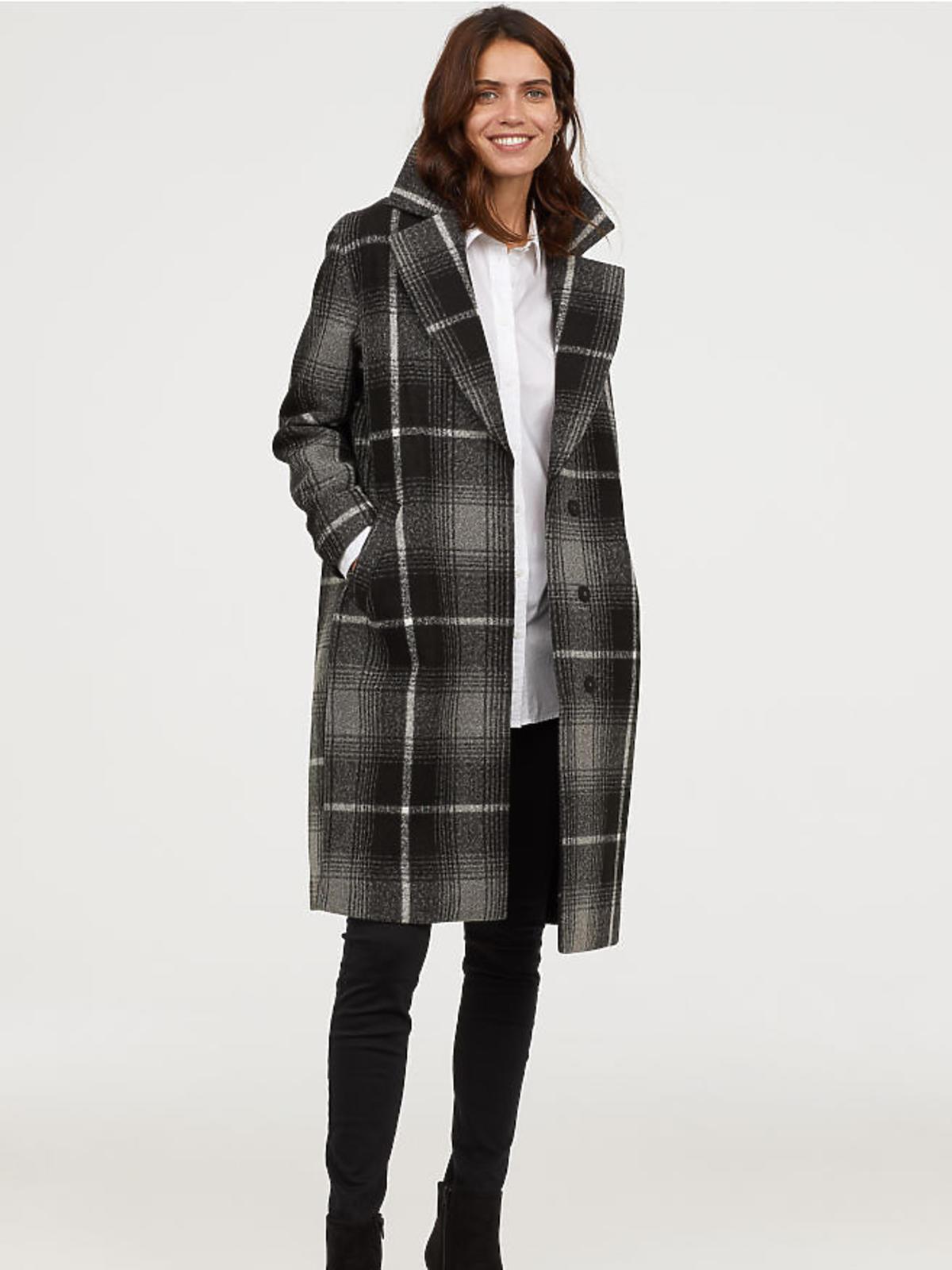 Płaszcz w kratkę H&M cena 299 zł