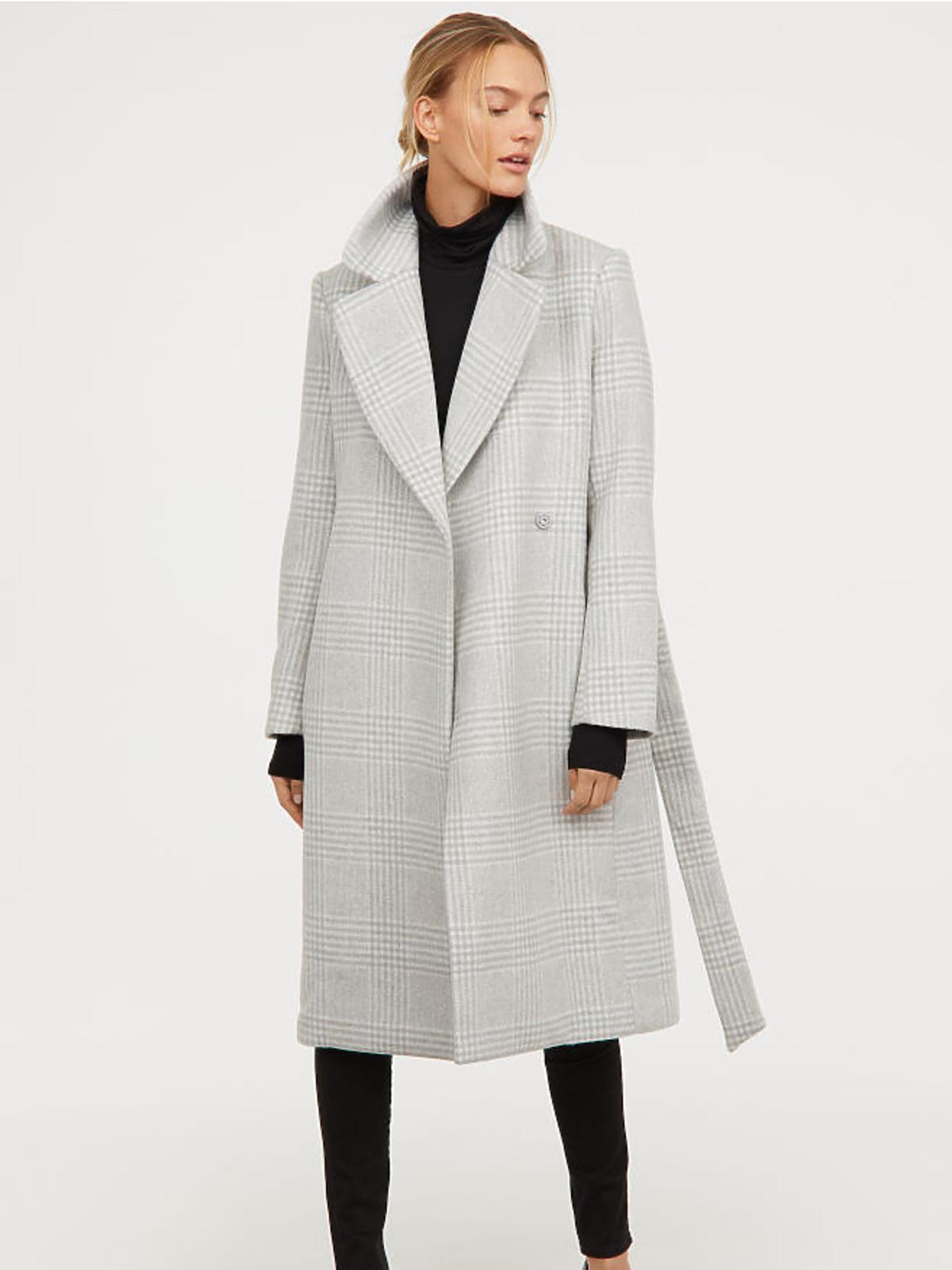 Płaszcz w kratkę H&M cena 399 zł