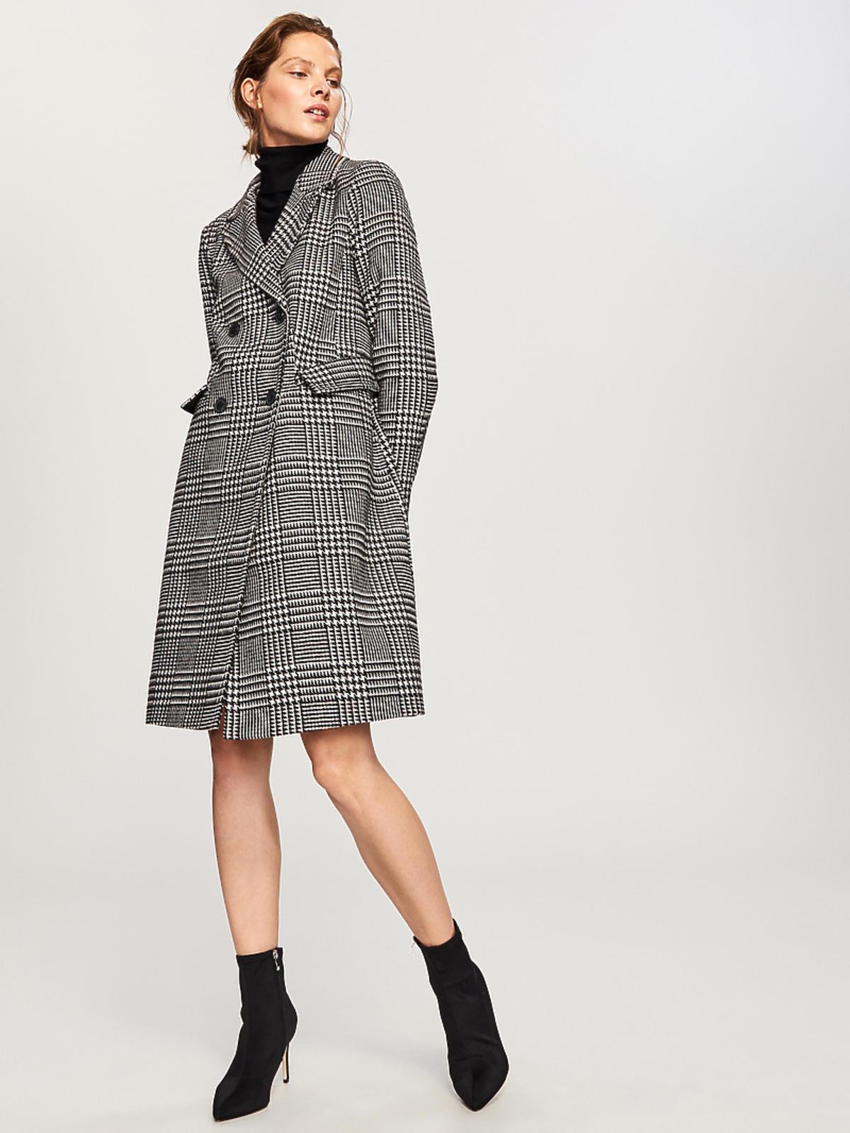 Płaszcz w kratkę Reserved cena 299 zł