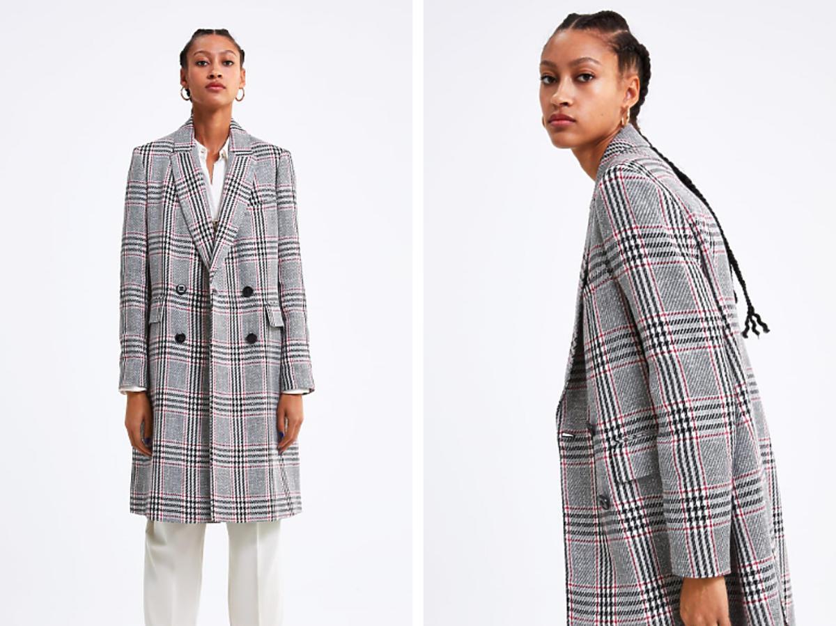 Płaszcz w kratkę Zara