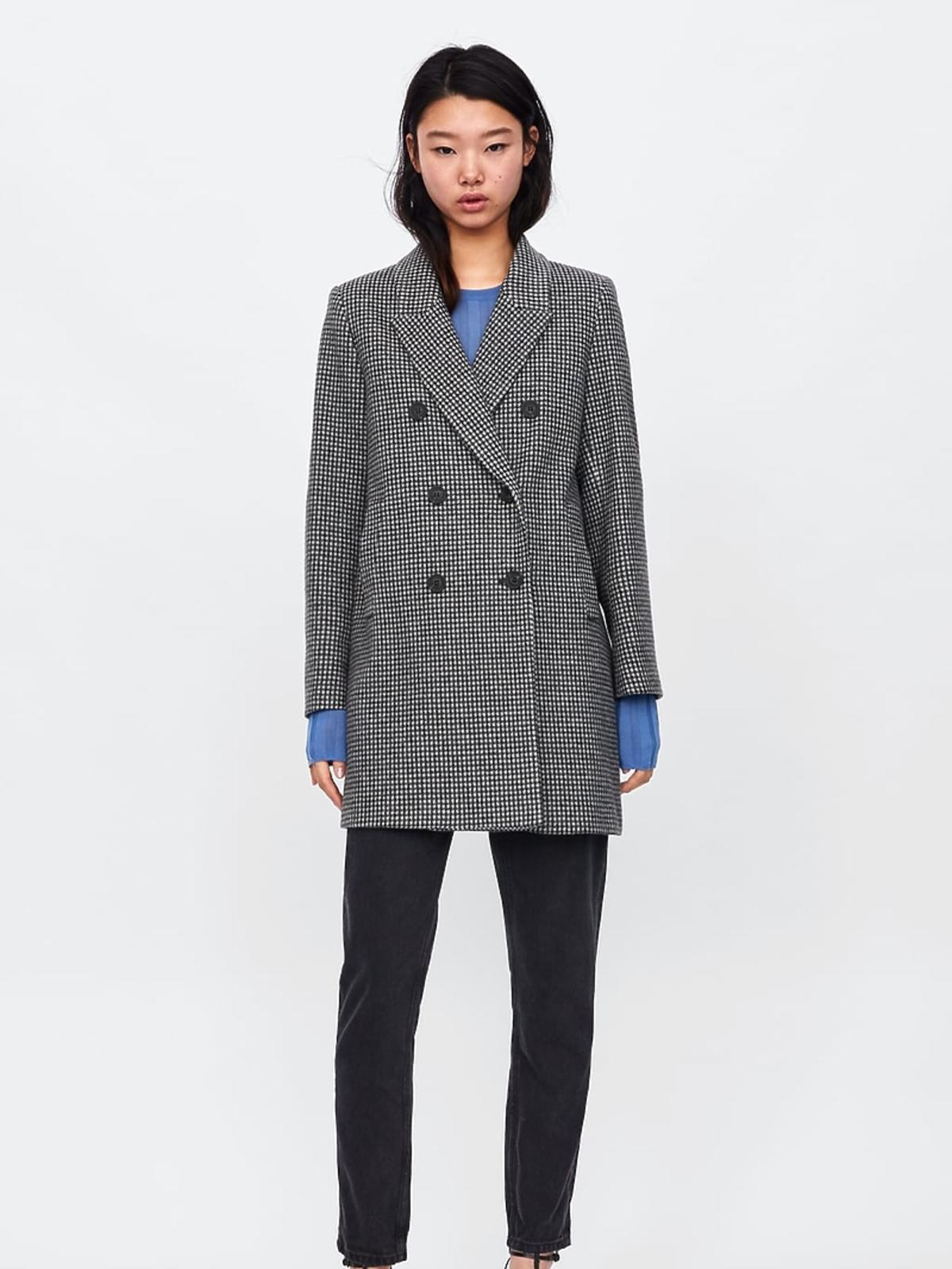 Płaszcz w kratkę Zara cena 299 zł