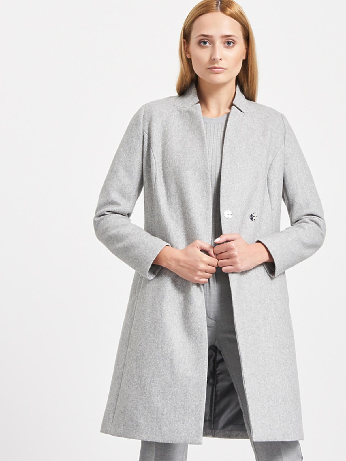 Płaszcz z domieszką wełny, Reserved, przeceniony z 349,99 zł na 199,99 zł