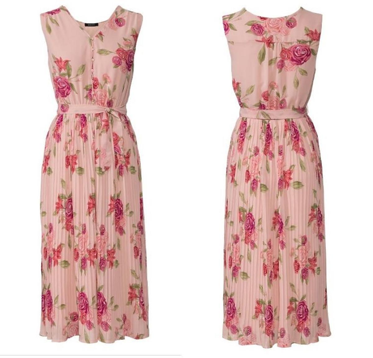 Plisowana sukienka w kwiaty Lidl