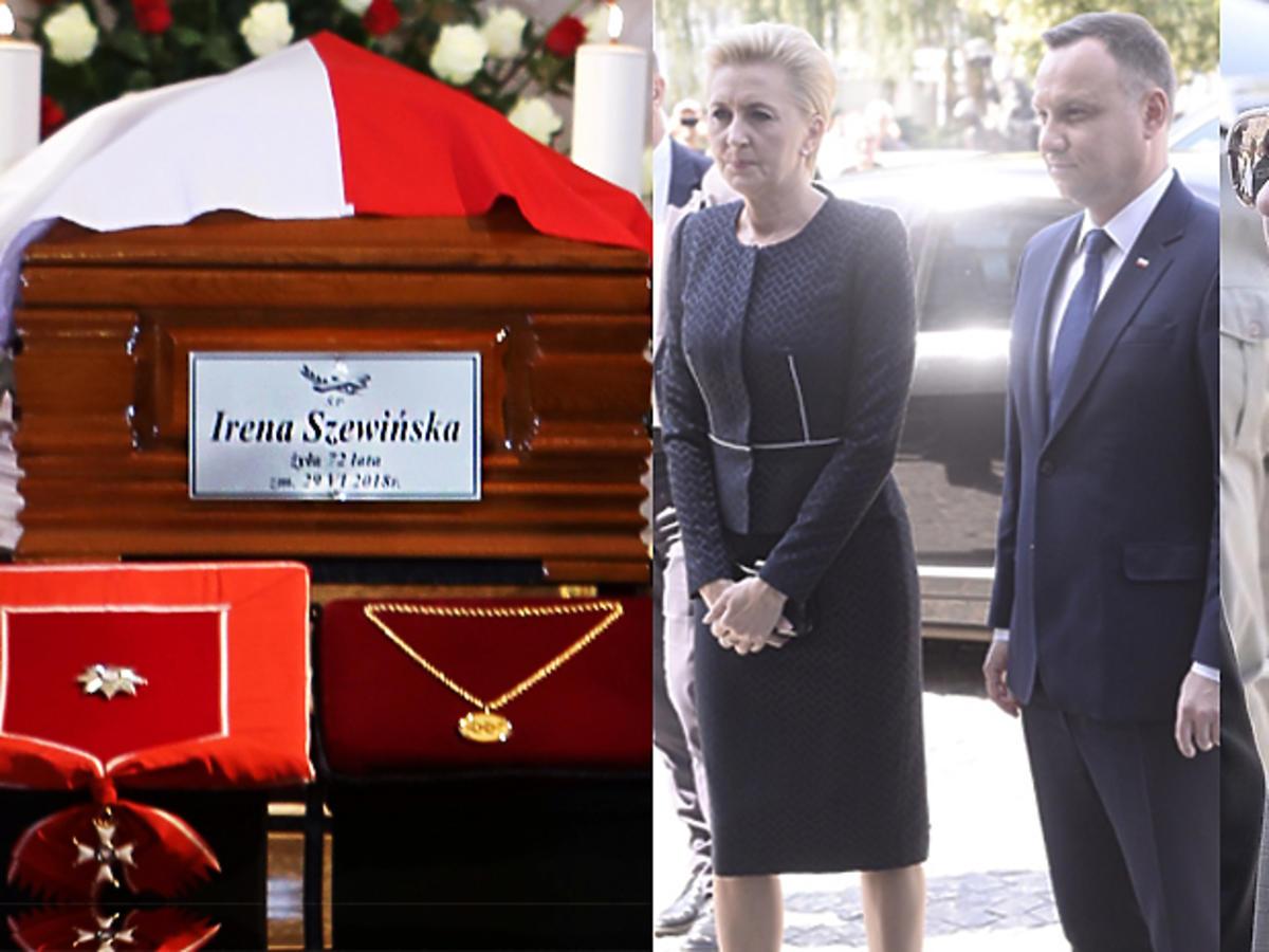 Pogrzeb Ireny Szewińskiej, Andrzej Duda z Agatą Dudą