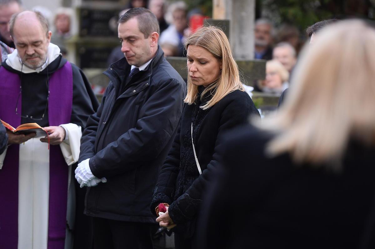 Pogrzeb Wojciecha Młynarskiego - zdjęcia rodziny