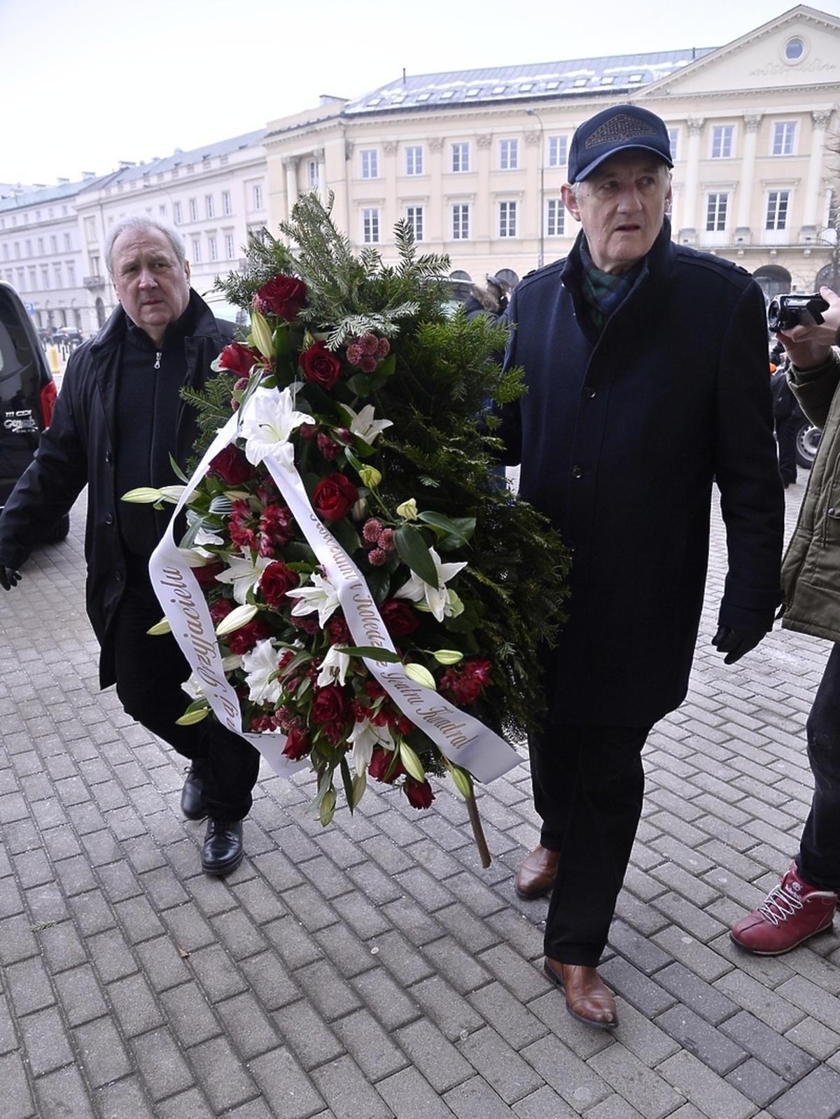 Pogrzeb Wojciecha Pokory - Andrzej Grabarczyk i Grzegorz Wons
