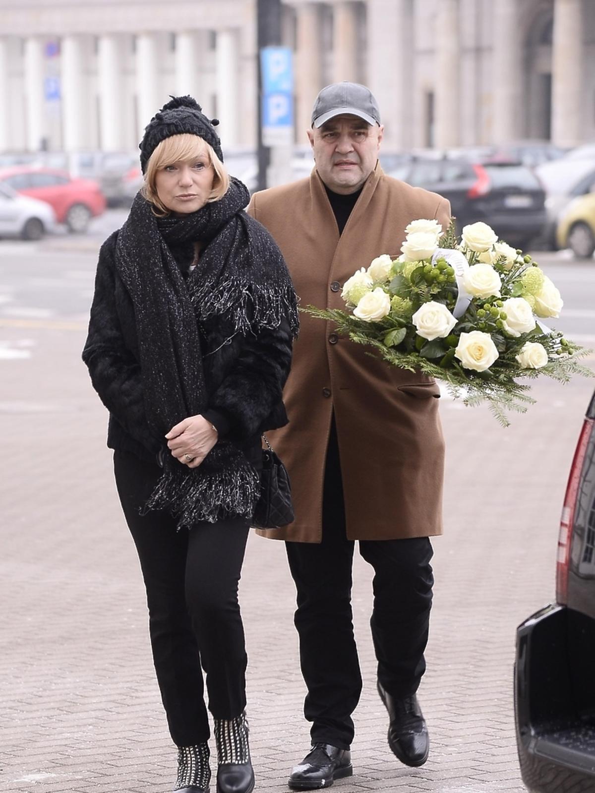 Pogrzeb Wojciecha Pokory - Katarzyna i Cezary Żakowie