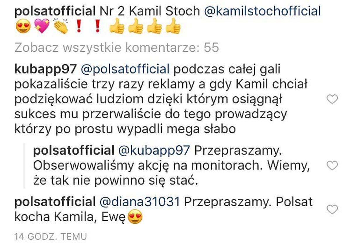 Polsat przeprasza za wpadkę z Kamilem Stochem