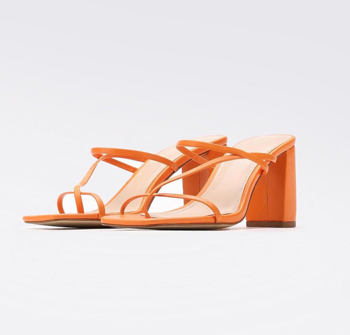 pomarańczowe buty Jenny Fairy