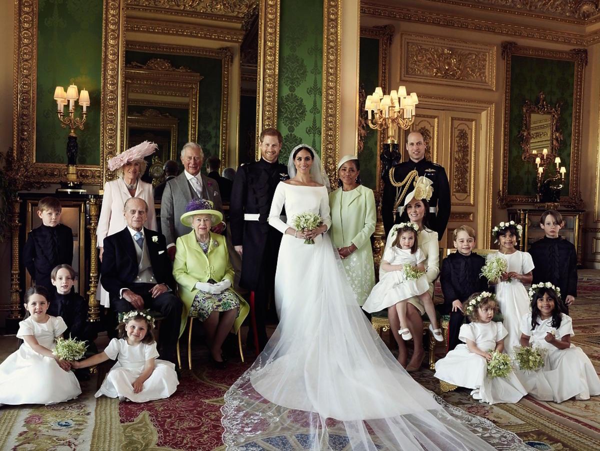 Portret ślubny rodziny królewskiej