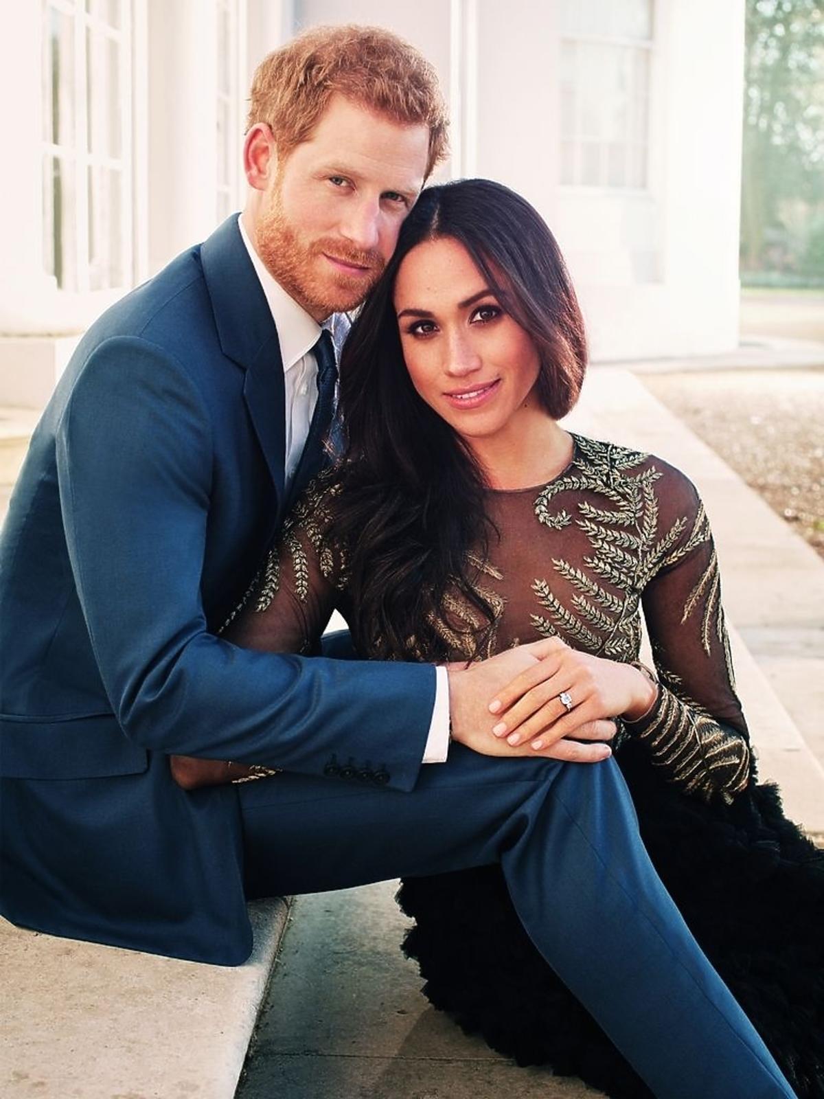 Portret zaręczynowy Meghan Markle i księcia Harry'ego