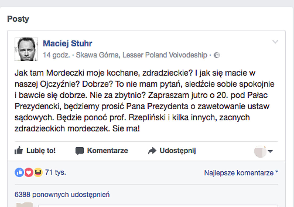 post Macieja Stuhra