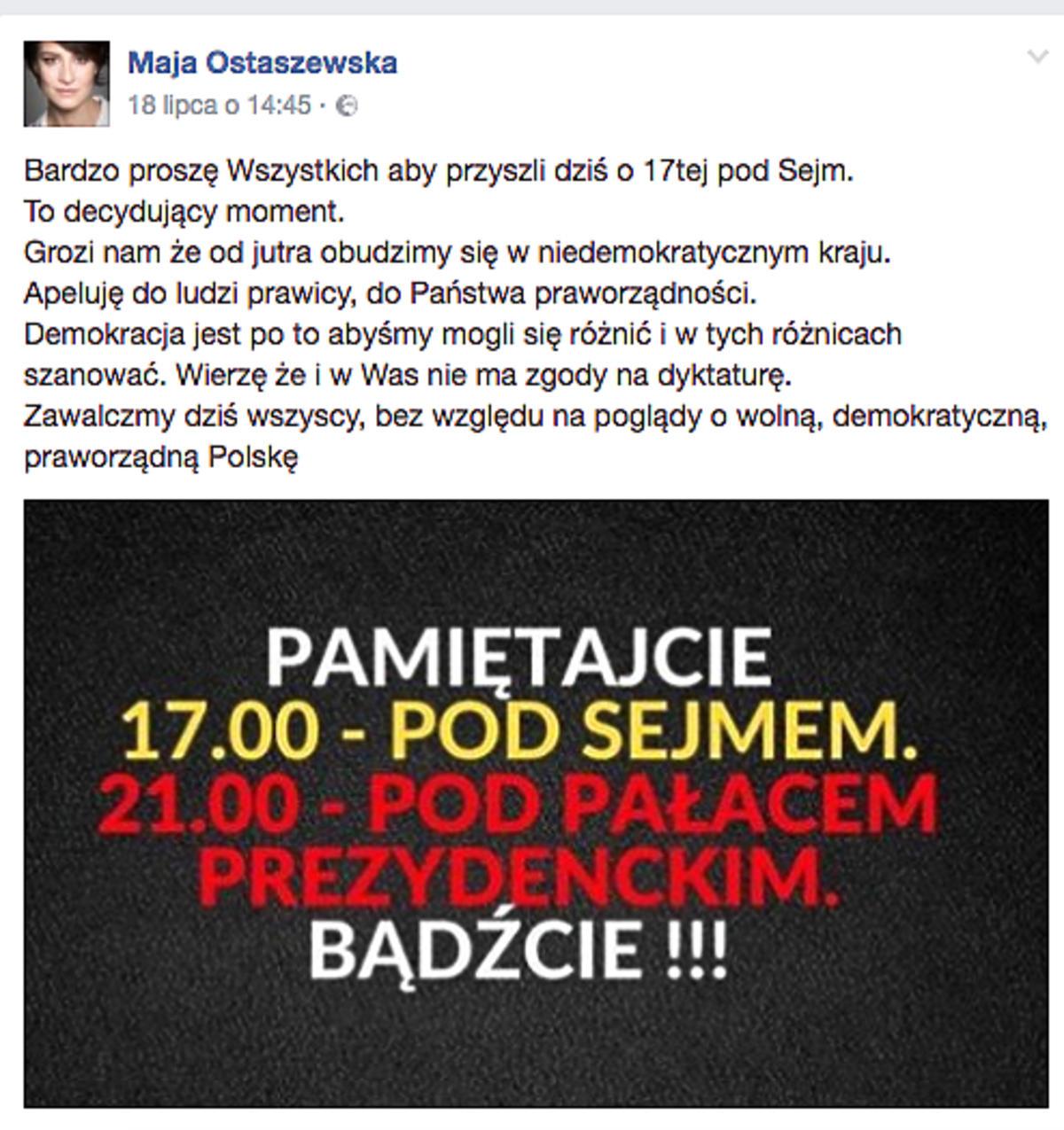 post Mai Ostaszewskiej