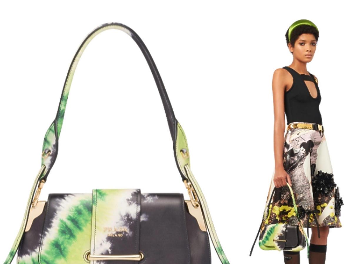 Prada Sidonie bag-tie-dye print zielona