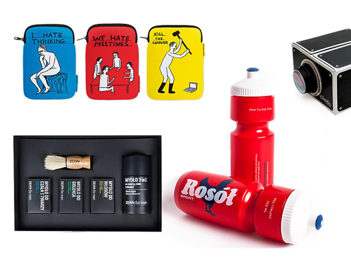 Prezenty dla mężczyzny: etui na iPada, zegarek, kosmetyki do pielęgnacji brody, projektor do smartfona, bidon