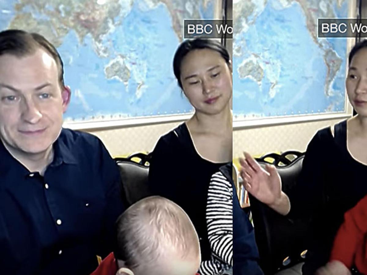 Profesor Robert Kelly tłumaczy sie z wpadki z dziećmi podczas wywiadu