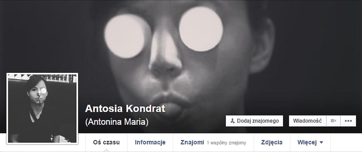 Profil na Facebooku Antoniny Turnau