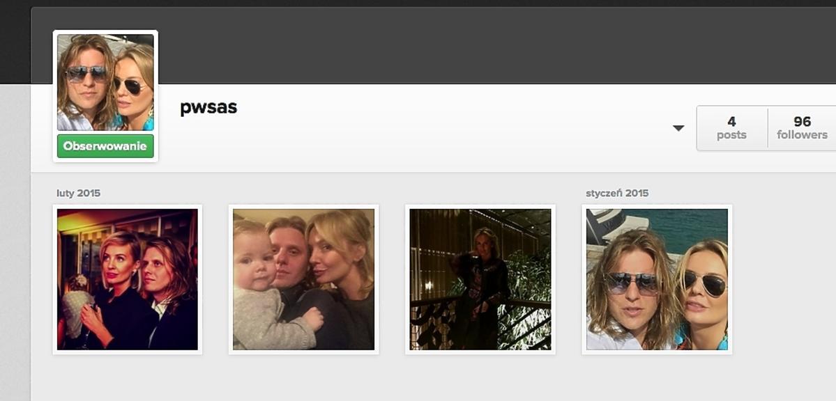 Profil Piotra Woźniaka Staraka na Instagramie