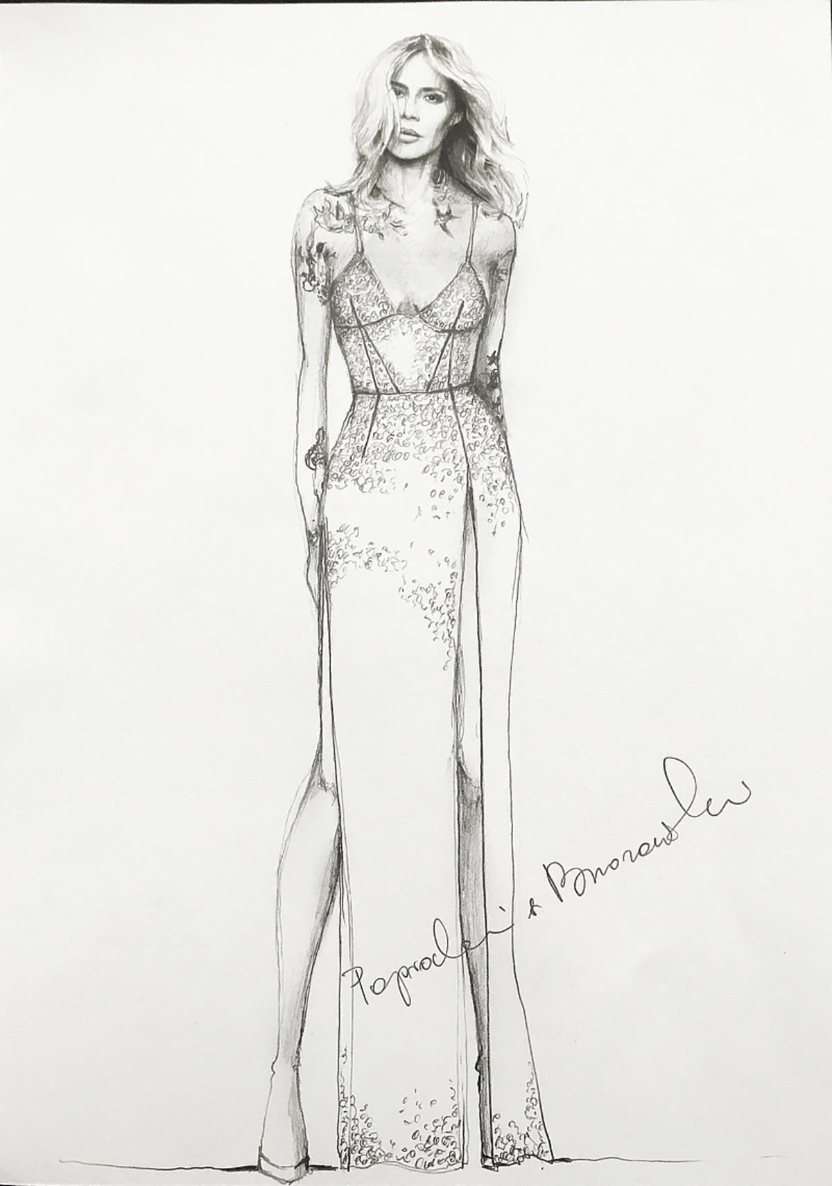 Projekt sukni Paprocki & Brzozowski dla Mai Sablewskiej