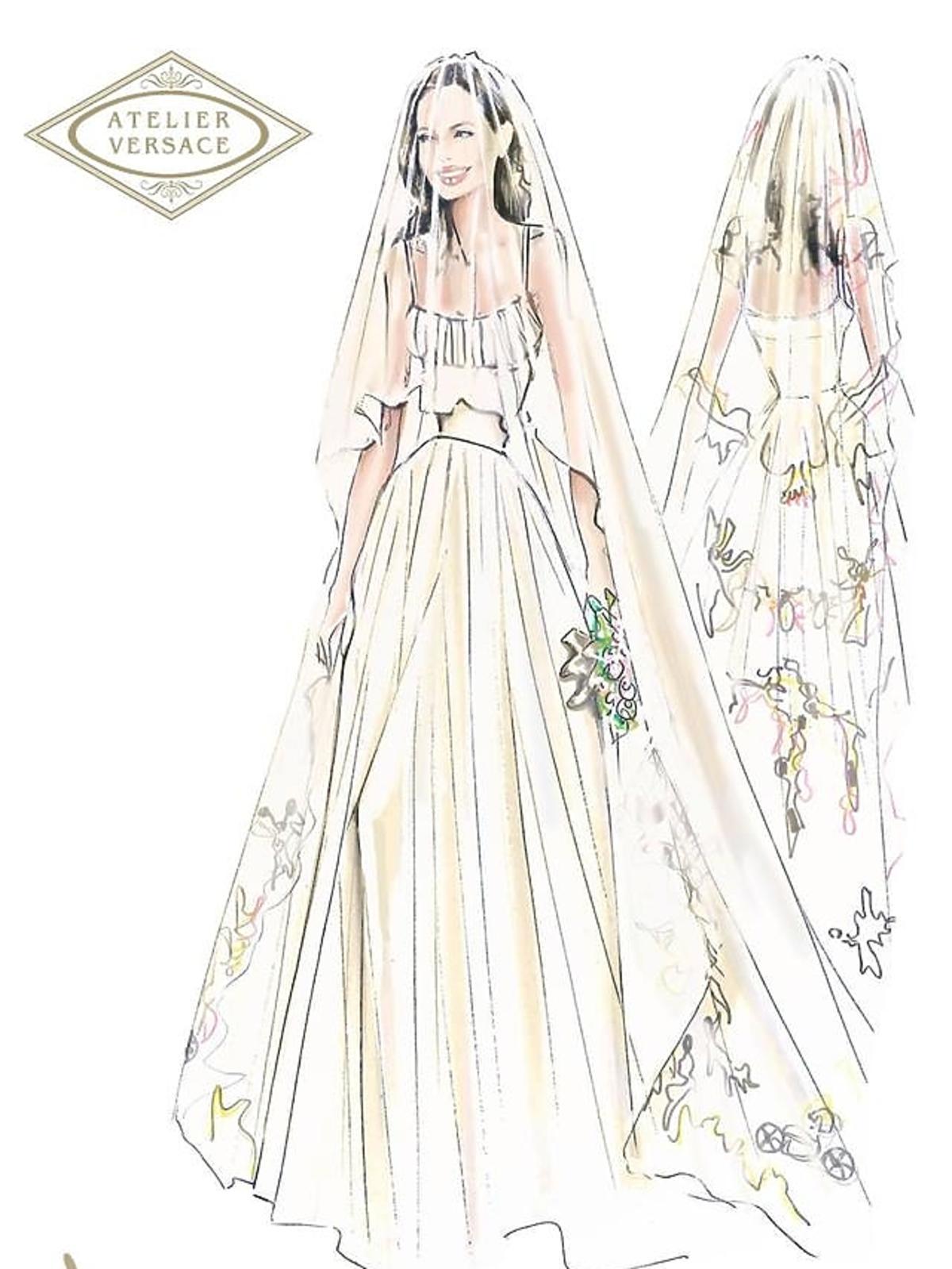 Projekt sukni ślubnej Angeliny Jolie. Suknia ślubna Angeliny Jolie