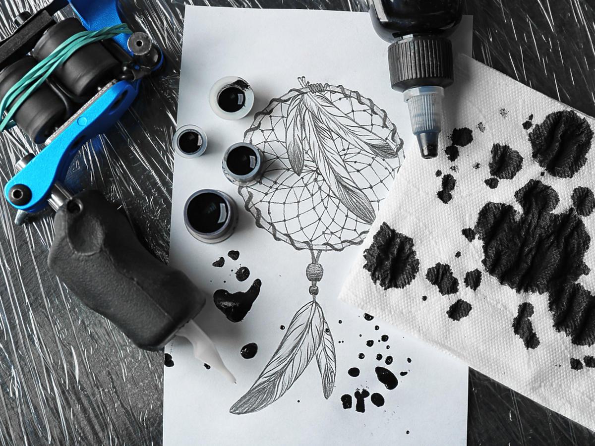 projekt tatuażu łapacz snów