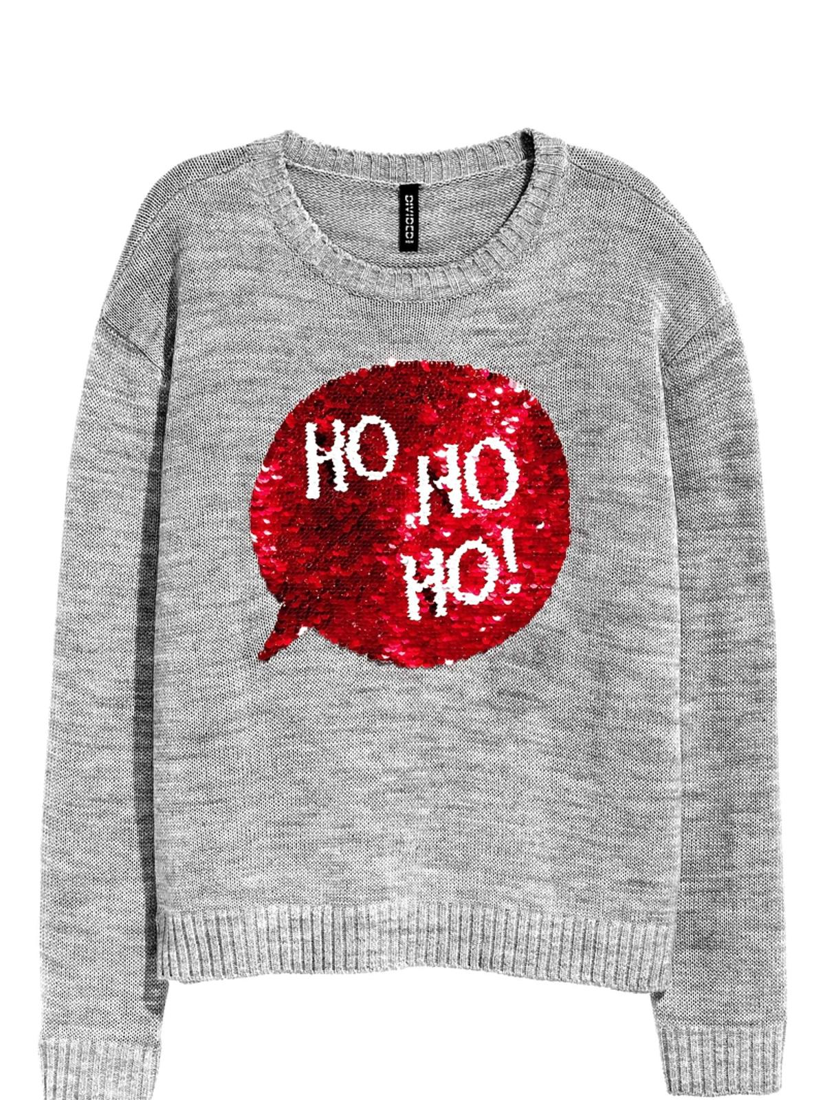 Promocje H&M zima 2016: Świąteczny sweter z cekinami