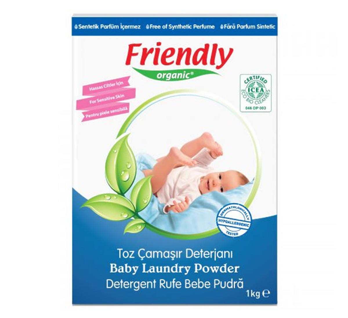 Proszek do prania ubranek dziecięcych 1kg Friendly Organic