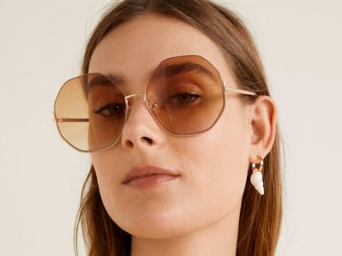 przecenione okulary z Mango duże okrągłe