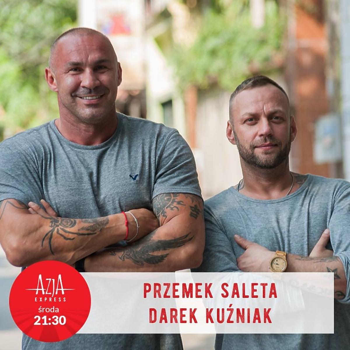 Przemek Saleta i Darek Kuźniak w programie Azja Express