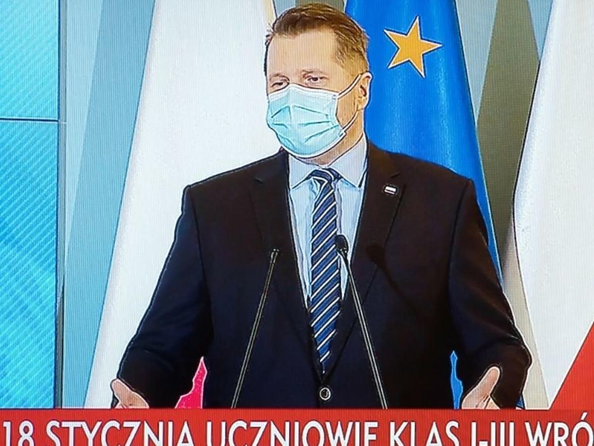 Przemysław Czarnek na konferencji prasowej