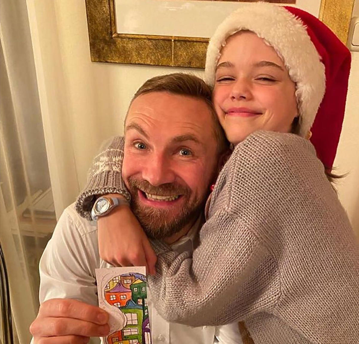 Przemysław Kossakowski i córka Martyny Wojciechowskiej, Marysia Błaszczyk