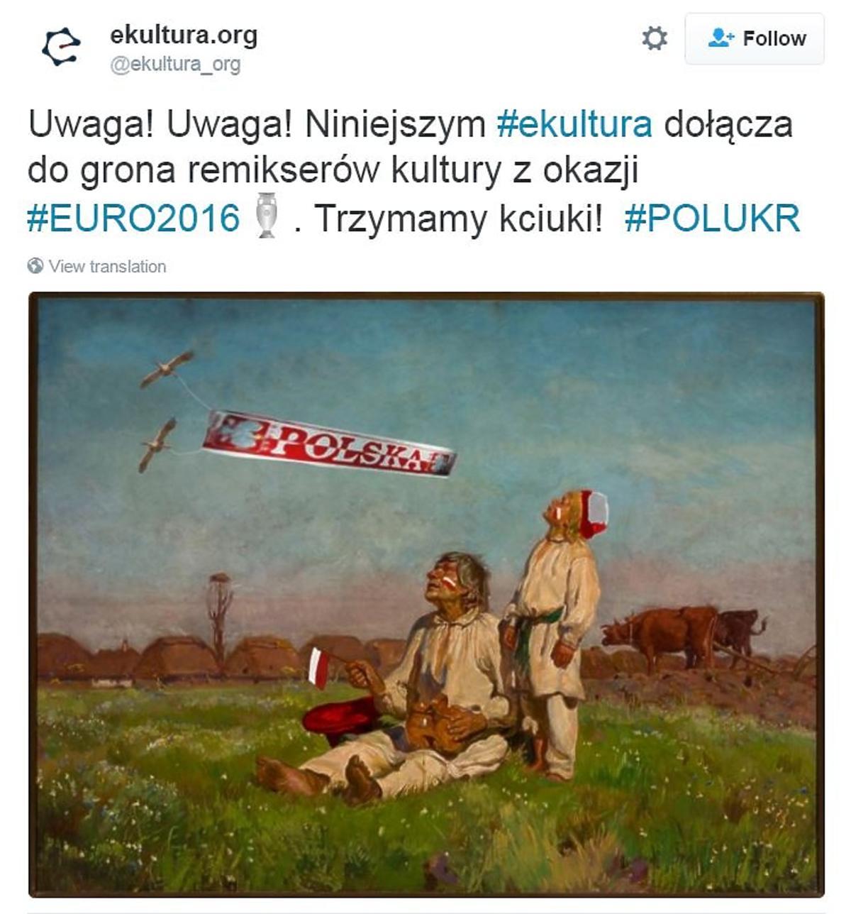 Przeróbka obrazu Lecą żurawie relacja na żywo Polska - Ukraina