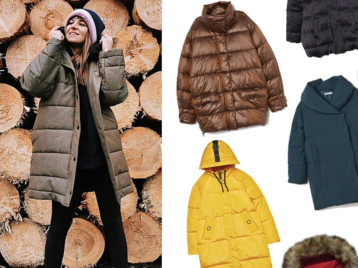 Puchowe płaszcze w stylu Ani Lewandowskiej