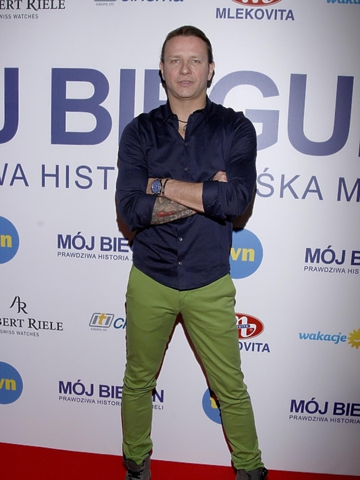 Radosław Majdan na premierze filmu
