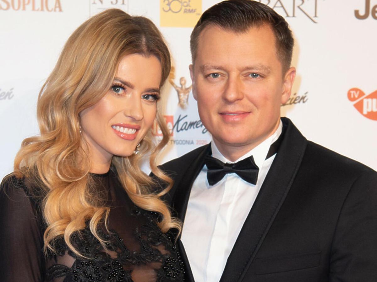 Rafał Brzozowski i Anna Tarnowska na gali TeleKamer ubrani na czarno
