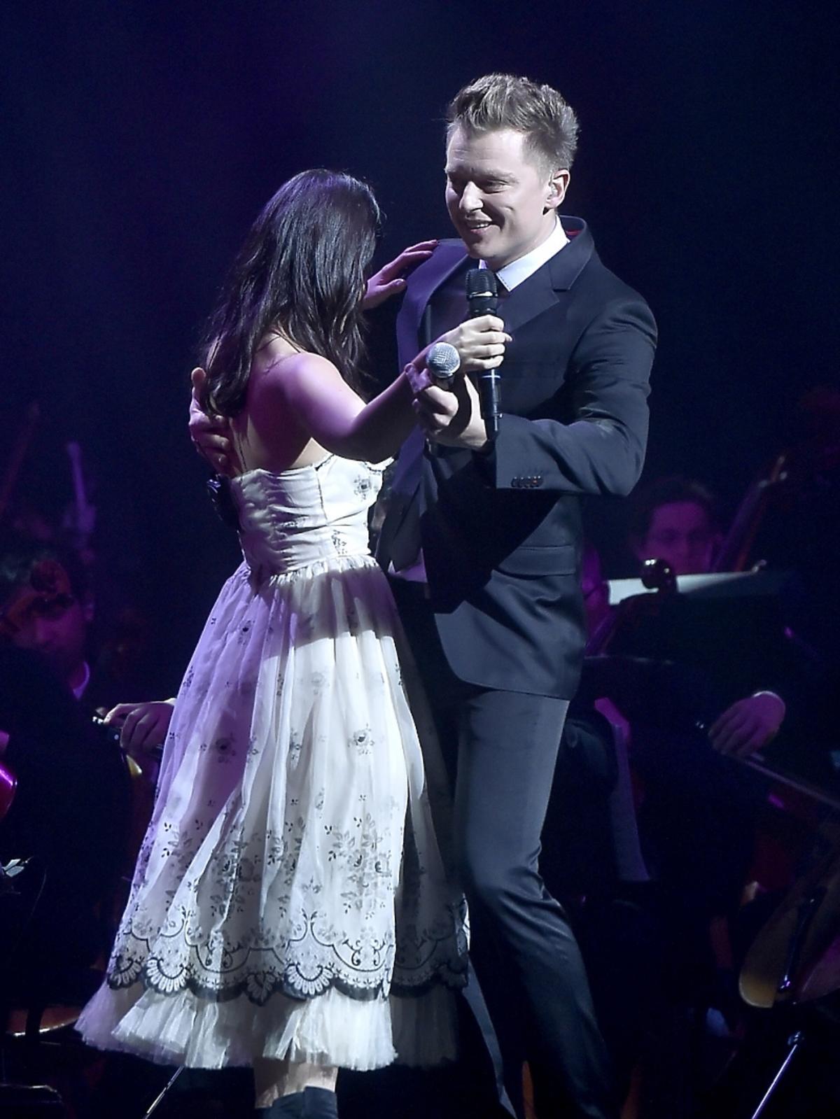 Rafał Brzozowski i Katie Melua  na koncercie w Łodzia