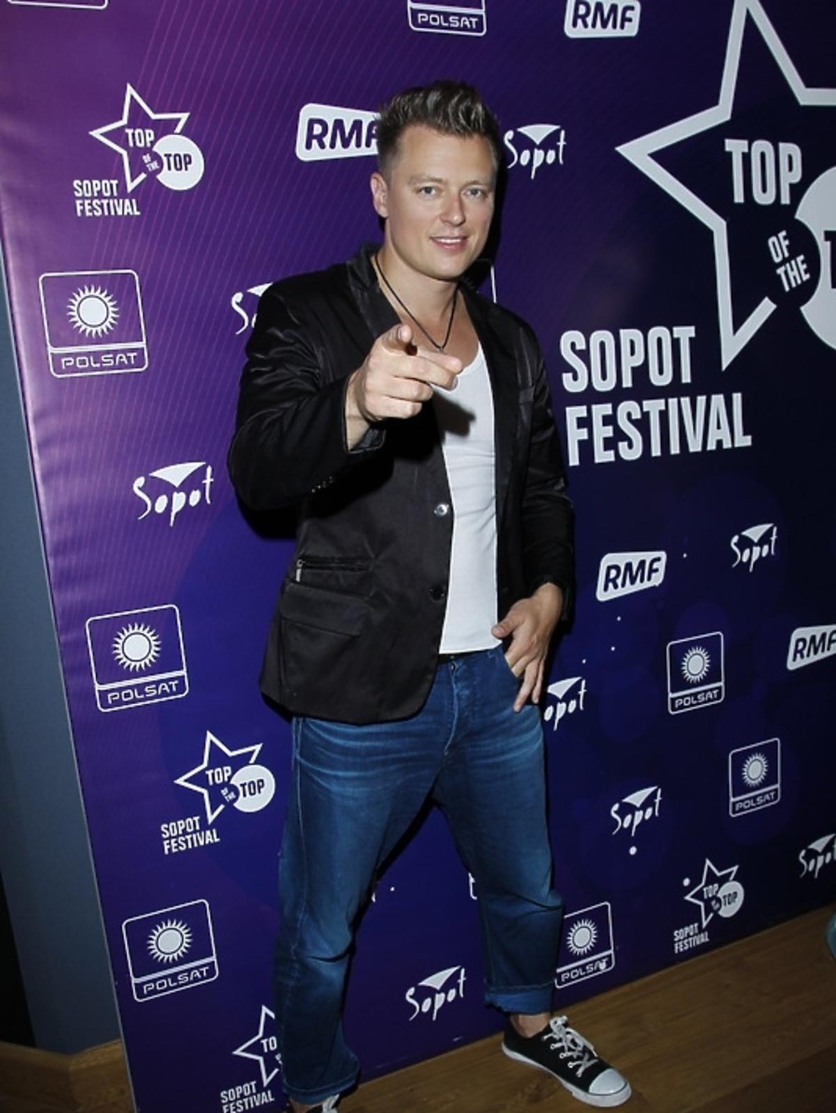Rafał Brzozowski na festiwalu Top of the Top 2013 w Sopocie