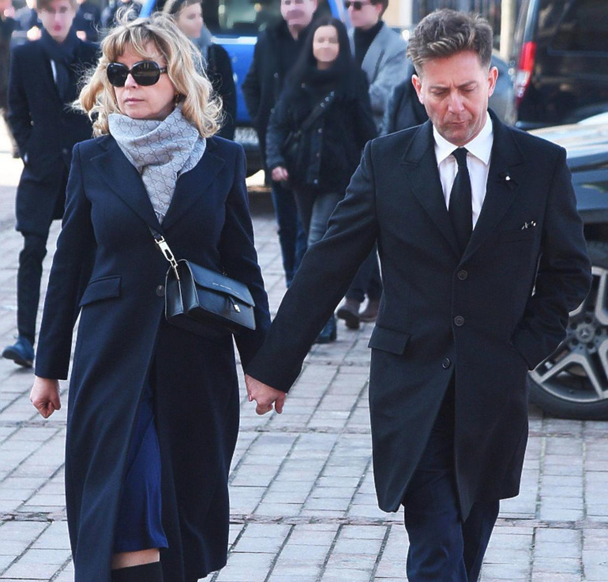 Rafał Królikowski i Dorota Mirska na pogrzebie Pawła Królikowskiego