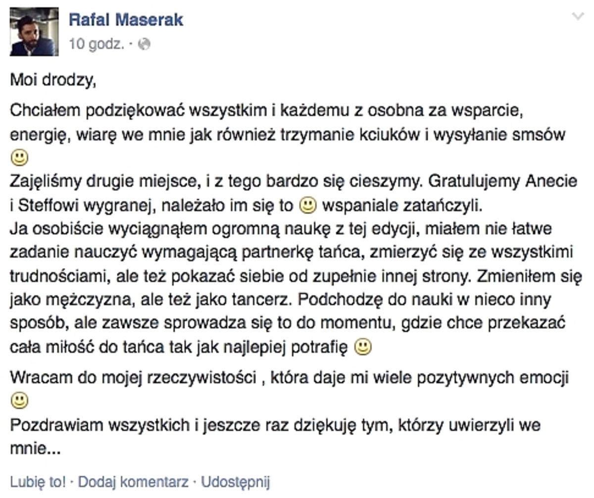 Rafał Maserak o Tańcu z gwiazdami